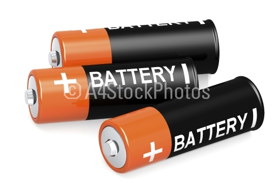 Double A battery isolated on white background