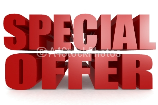 Special offer word isolated on white